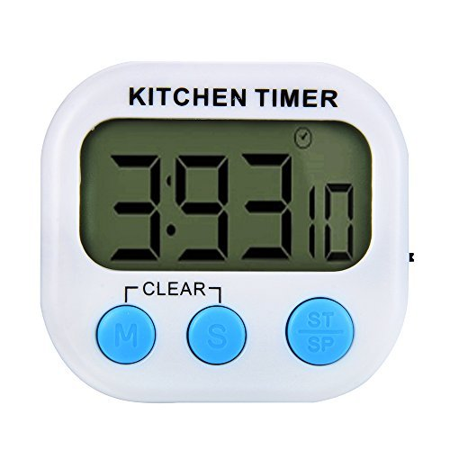 ISHOW Digital White Kitchen Timer Big Digits Loud Alarm with Magnetic Backing for Cooking Baking from ISHOW