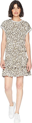 Juicy Couture Black Label Womens Leopard Print Mini Casual Dress Ivory XL