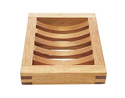 Natural Solid Wood Soap Tray Wooden Holder Dish for Shower and Bathroom
