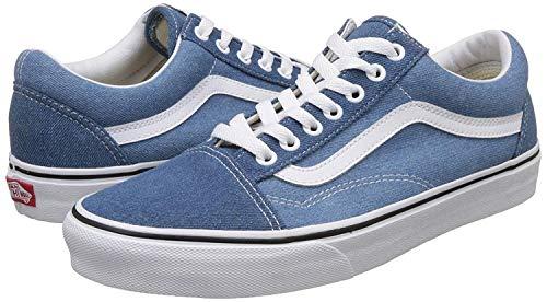 Old Skool Denim 2-Tone Blue/True White Blue/True White (Denim),Size 12.5 Women/11 Men