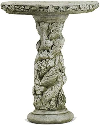 Detailed Fruit Design Garden Bird Bath stone cast Ornament By DGS BB10 60KGS