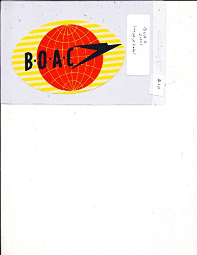 BOAC 1955 Airline Luggage Label Sticker Decal