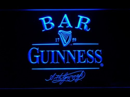 Guinness Neon LED Caracteres Publicidad Neon Cartel Azul ...