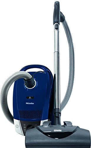 Miele Electro+ Canister Vacuum Marine Blue (Compact C2) +SBB Parquet-3 Pure Suction floorhead+SEB 228 Powerhe adusting Brush, Upholstery Tool and Crevice Tool
