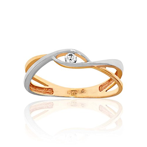 CLEOR - Bague CLEOR Or 375/1000 Diamant - Femme