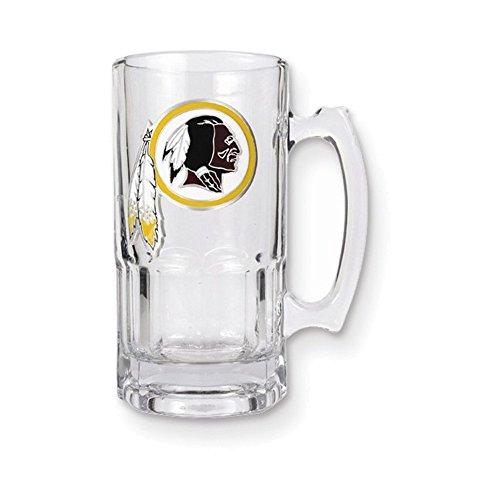 NFL Redskins 1-liter Glass Macho Tankard