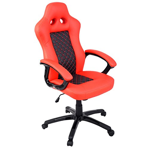 Giantex Racing Gaming Office Chair High Back Style Bucket Seat Office Desk Chair Gaming Chair by Giantex
