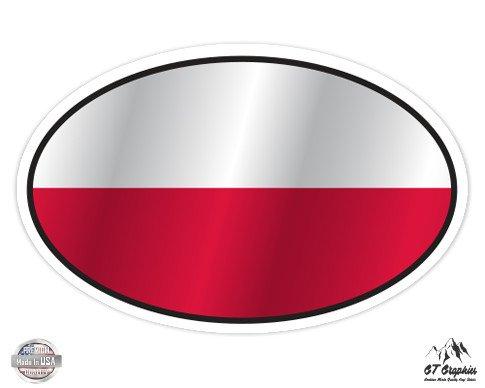 Poland Flag Oval - 3