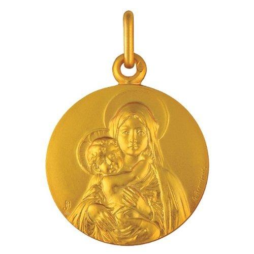Médaille de baptême Sancta Mater 9 carats