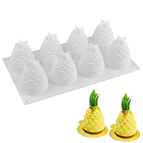 Silicone Mousse Cake Mold, Joyeee 3D PineCone/Pineapple Cake Mold Trays/Pastry Desserts Mould, Food Grade, for Halloween Christmas Cake Dessert Mousse Chocolate Chiffon Truffle Cheesecake Brownie ()