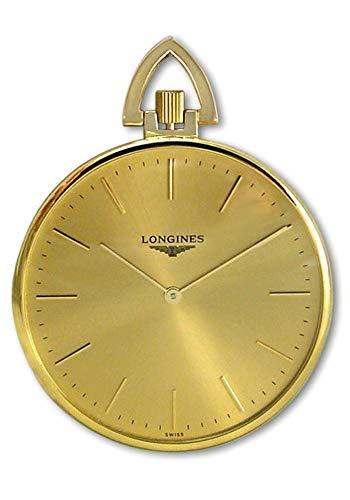 Longines 18kt Gold Mens Open Face Swiss Pocket Watch Gold Dial L7.029.6.44.1