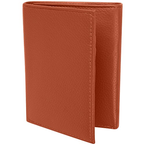 Mens Blocking Leather Trifold Wallet