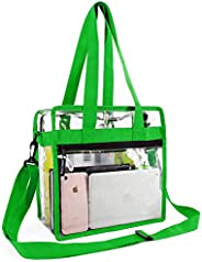 Stadium Clear Bags w Front Pocket and Shoulder Carry Handles,Stadium Events Security Approved Travel & Gym