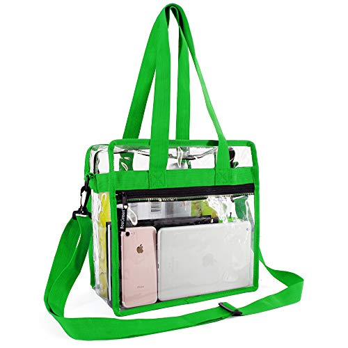 (Clear-Crossbody-Messenger-Shoulder-Bags-Seahawks Green With Adjustable Strap,NFL Stadium Approved Transparent Purse)