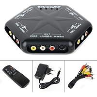 EmmetStore(TM) 4 Port in 1 Out AV Switch S-Video Audio Game RCA Box Selector Splitter+Remote