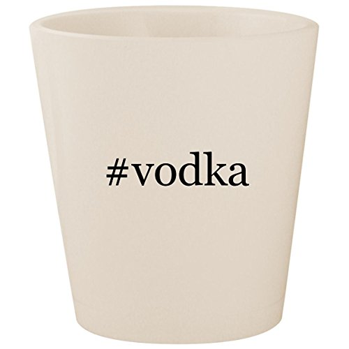 #vodka - White Hashtag Ceramic 1.5oz Shot ()