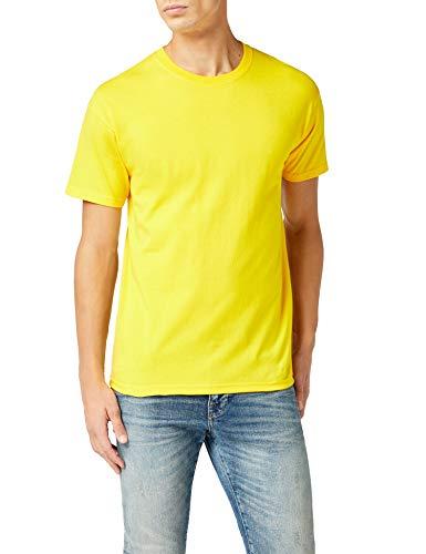 (Fruit of the Loom Men's Super Premium Short Sleeve T Shirt Sunflower L)
