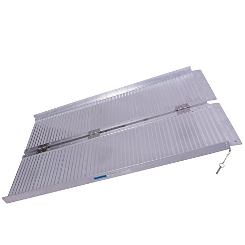 Tenive-Portable-Suitcase-Mobility-Wheelchair-Utility-Ramp-Silver-Spring-Multi-fold-Mobility-Scooter-and-Wheelchair-Threshold-Ramp
