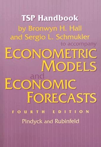 tsp handbook to accompany econometric models and economic forecasts rh amazon com Robert Pindyck MIT Microeconomics