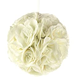 "Homeford FPF0250229IV Pomander Flower Balls Wedding Centerpiece, 10"", Ivory"