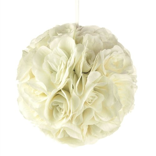 Homeford FPF0250229IV Pomander Flower Balls Wedding Centerpiece, 10