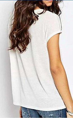 Frauen Casual Lose Blouses Gedruckt Kurzarm Rundkragen T-Shirt Hemd Blusen