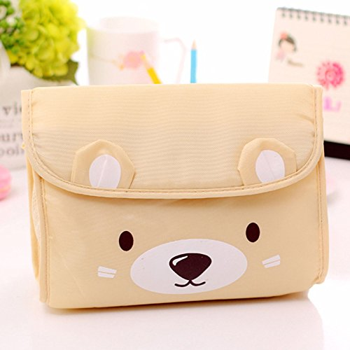 mk. park - Cute Bear Travel Storage Bags Clothes Packing Cube Luggage Sundries Organizer - South Beach Heart Program