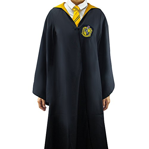 Harry Potter Authentic Tailored Wizard Robes Cloak by Cinereplicas,Hufflepuff,Large Adults