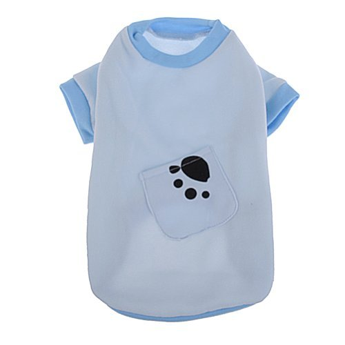 neewerr-cute-simple-style-blue-color-paw-print-fleece-pullover-with-pocket-for-pet-dog-size-m