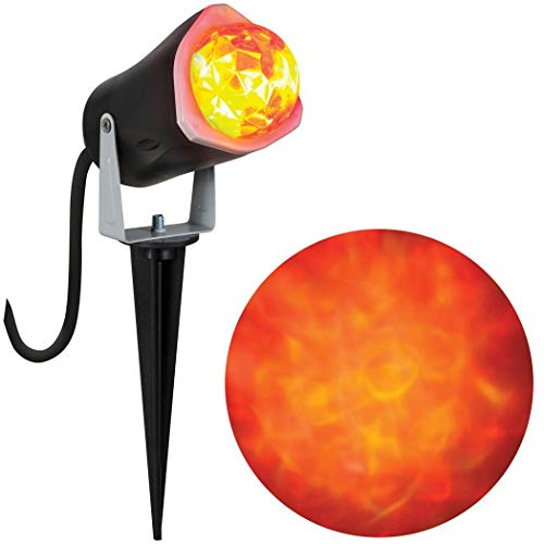 Gemmy 966237 LED Outdoor Fire and Ice Lightshow, Orange -
