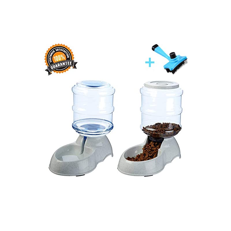 dog supplies online ancaixin automatic cat feeder and water dispenser in set with slicker brush gift   6-meal automatic dispenser with timer for small large dog kitten (feeder and water dispenser in set with gift brush)