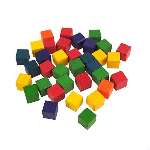 (Homeford FKL00000CC079AST Multi-Colored Wooden Cube Blocks, 1/2