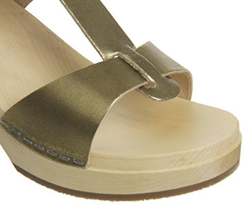 Women's Greek Sandal hasbeens Clog Gold swedish aY8Bq