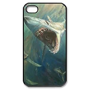 ALICASE Diy Customized hard Case Deep Sea Shark For Iphone 4/4s [Pattern-1]