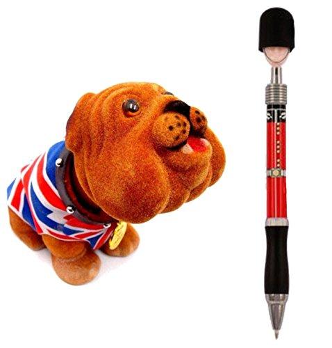 Mini Nodding Union Jack British Bull Dog + London Guardsman Queen Soldier Pen