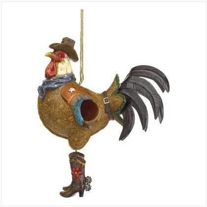 Smart Living Cowboy Rooster Birdhouse