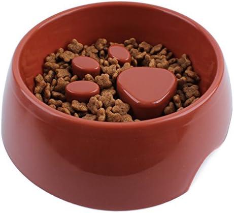 Quesuc comedero antivoracidad perro, Huellas de mascotas cuenco para lento perros, Evita la obesidad y los vómitos, Se puede utilizar en el lavavajillas, Apto para perros pequeños y medianos (960 ml)
