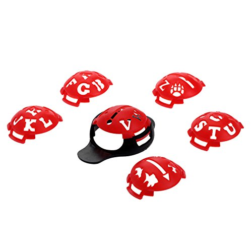 MUXSAM 1 Set 7Pcs Golf Ball Line Liner Marker Template Set Drawing Alignment Tool Ball Monograms - Red