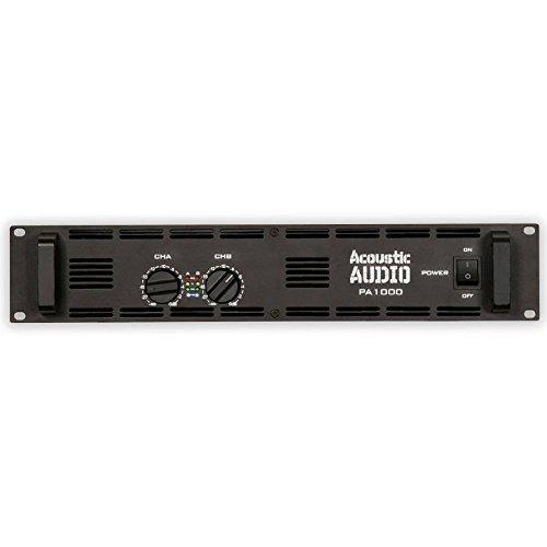 Acoustic Audio PA1000 Amp Two Channel 1000 Watt Pro Audio Power Amplifier PA DJ New