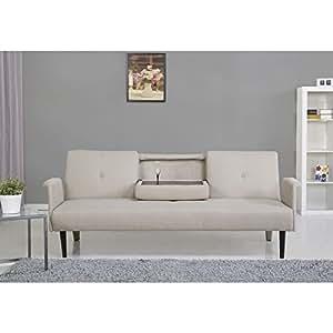 Amazon Cambridge Camel Convertible Sofa Bed Sofa converts into a sofa bed using click