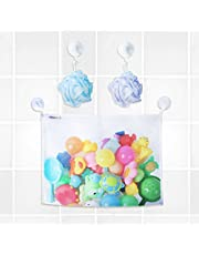 Pikababy Bath Toy Organizer, With 2 Extra Strong Suction Hooks, Includes 3M Stickers, Safe Non-Toxic Polyester, The Perfect Storage Bag,Premium Quality Mesh Basket For Toddlers and Kids Toys,Large net