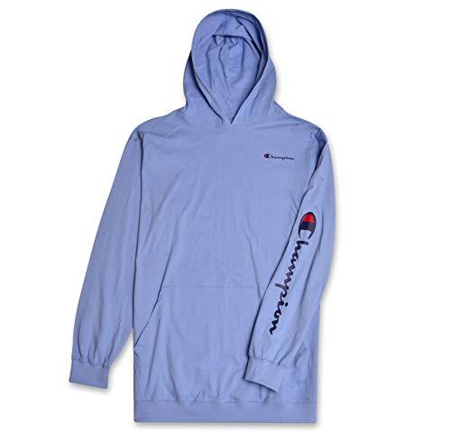 Champion Mens Big & Tall Long Sleeve Pullover Jersey Lightweight Hoodie Baby Blue (Light Blue Infant Sweatshirt)