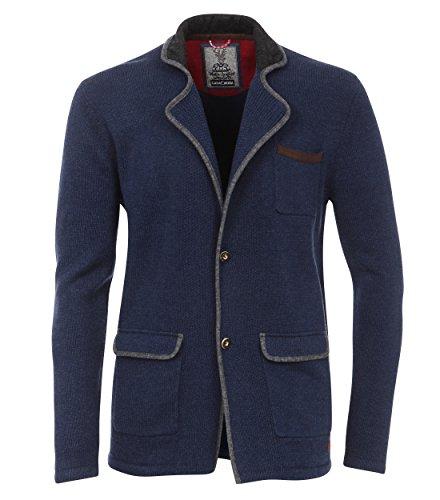 Casa Moda - Wies'n Spezial - Herren Trachten Strickjacke in Blau (462540500), Größe:XXL;Farbe:Blau (100)