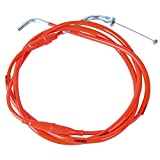 NIBBI High Performance Motorcycle Throttle Cable Adjustable GY6 Scooter Throttle Cable Flat Slide Carburetor Throttle Cable Red 185CM Fit Yamaha TaoTao Kymco SYM GY6 Scooter 125 150 Moped (red)
