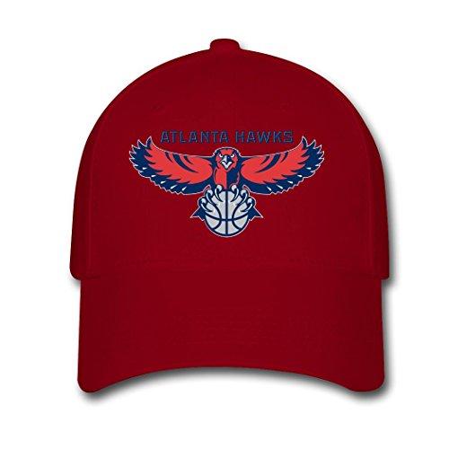 Woman Men Cotton Atlanta Hawks 2016 Logo Adjustable hats Baseball caps Red (Atlanta Hawks Fitted Cap)