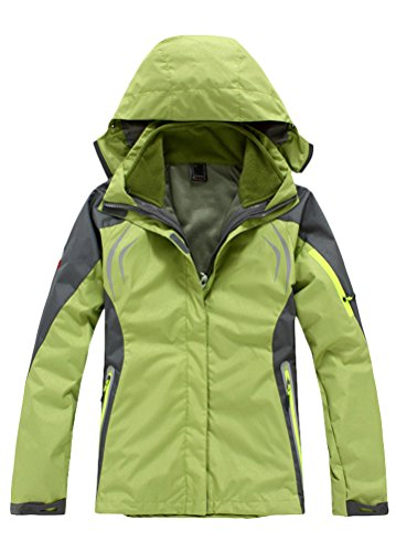 match Life Sport Chaqueta para mujer, con capucha abrigo Verde