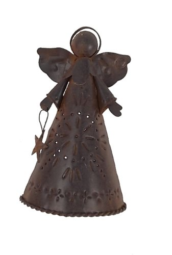 Craft Outlet Tin Angel Tree Topper, 6.25-Inch, Set of 2