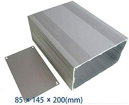 bo/îte /à projet en aluminium Bo/îte /à instruments en aluminium SenRise 85 x 145 x 200 mm bricolage bo/îtier /électronique pour carte PCB
