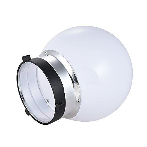 6'' Spherical Diffuser Soft Ball for Bowens Mount Monolight Studio Strobe Flash Light by Qintec (Image #3)
