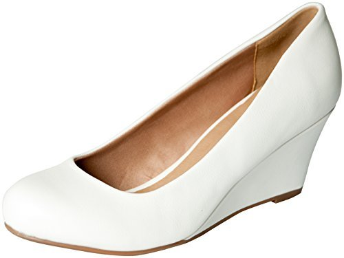 Forever Doris-23 Wedges Pumps-Shoes,7,White Pu
